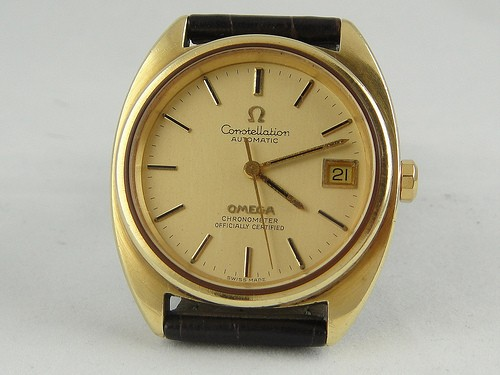 Crown Auto Sales >> Omega Constellation auto gold top, date